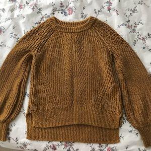 Madewell Yellow Crew Neck Sweater